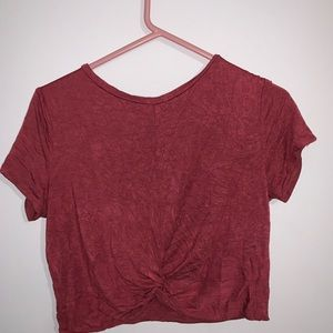 Red Twisted Crop Top